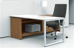 Cool and contemporary writing desk and credenza from the Global Princeton collection. Only $1235.99 in your choice of two finish combinations at OfficeAnything.com.