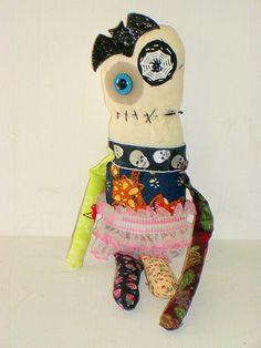 Handmade Monster Plush- Weird - Doll- Art Doll - Plush Toys- Creepy cute - Halloween