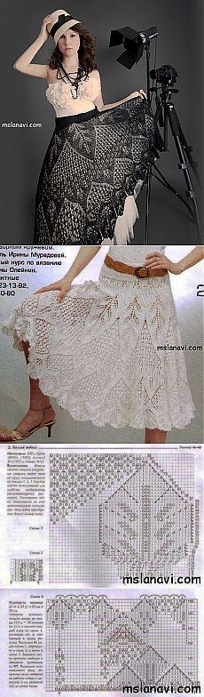 Fusta Frumos tricotate și aceeași rochie delicată | tricotat Lana