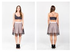 PARADOX SS15 'Details' Collection Black bralet - 12.000HUF Powderpink tulle skirt - 16.000HUF