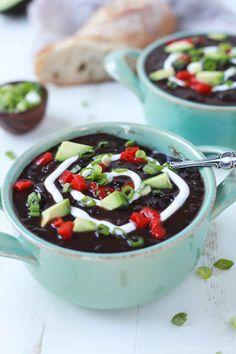 Smoky Chipotle Black Bean Soup: