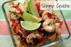 Shrimp Ceviche - A spicy, tangy, fresh summer appetizer or side dish.