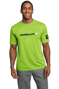 Herbalife 24 Cool Dry Fit. Lime Shock T Shirt by c3rArtsandPrints