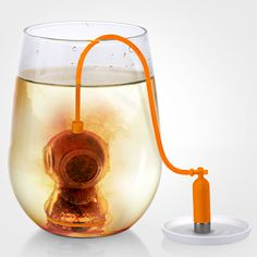 If you enjoy the occasional cup of tea, chances are you have a favorite tea infuser to steep in your tea. I can't think of a better tea infuser than the Deep Diver, which makes tea time more fun.  When you drop this little guy down into your tea, you will both have a little adventure. You might ev
