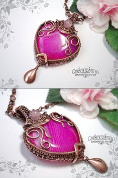 Items similar to Big pink agate necklace Wire wrapped pendant Wire wrap copper necklace Heady wrapping Pendant Gemstone Wire art Heart pendant Gift for her on Etsy Copper Necklace, Agate Necklace, Copper Jewelry, Wire Jewelry, Gemstone Jewelry, Jewelry Sets, Agate Gemstone, Macrame Necklace, Jewlery