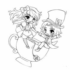 Lana Snow Elf Chibi Lineart by YamPuff on deviantART adult