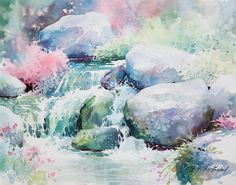 Learn the anatomy of painting water as it bubbles and cascades over rocks in a creek from artist Julie Gilbert Pollard as she shares her unique view.