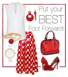 """Put your best foot forward!"" by pjnemchin on Polyvore featuring Dasein, Hobbs, River Island, Badgley Mischka and MANGO"