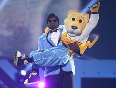 """Denver #Nuggets SuperMascot #Rocky was crowned """"Most Awesome Mascot"""" at the #CartoonNetwork's #HallofGame award show that aired on February 11. Shaquille O'Neil (pictured) and Nick Cannon presented the award."""