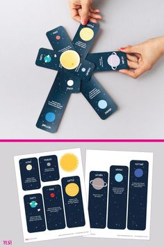 DIY Solar system activity book with fun facts about the planets. A great activity to learn about the Universe with your kids! Planets Activities, Solar System Activities, Solar Activity, Space Activities, Montessori Activities, Activities For Kids, Activity Books, Solar System Facts, Solar System Poster