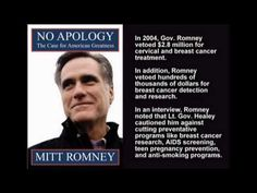 Won't Get Fooled Again: Governor Romney's Record in Massachusetts.. this video starts slow but is worth sticking with it.