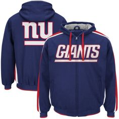Mens G-III Sports by Carl Banks Royal New York Giants Color Block Full- 373b44228