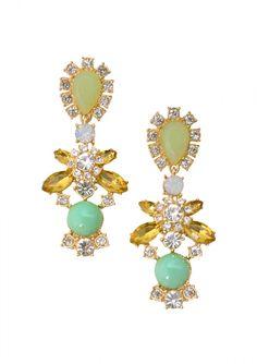 Spring Spirit Statement Earrings In Pastel Colors