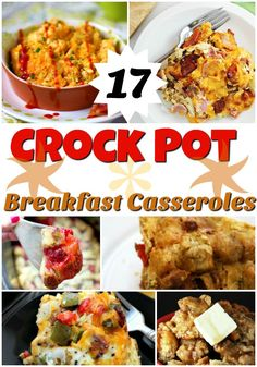 If you want a delicious breakfast but don't have a lot of time, give one of these 17 Crock Pot Breakfast Casseroles a try Pork Recipes, Slow Cooker Recipes, Gourmet Recipes, Crockpot Recipes, Healthy Recipes, Easy Recipes, Brunch Recipes, Breakfast Recipes, Breakfast Ideas
