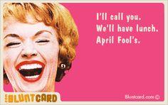 April Fools via blunt cards