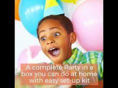 """""""You can celebrate a party, EVEN during social distance-time"""" Party in a Box is a great way to celebrate while social distancing. Select your Theme and let u. Hanging Paper Decorations, Clear Balloons With Confetti, Girl Birthday, Happy Birthday, Paper Cones, Party In A Box, Best Part Of Me, You Can Do, Distance"""