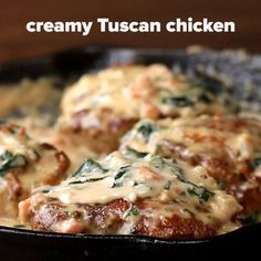 Creamy Tuscan Chicken- halved the heavy cream, tomato and cheese (pinch) used food processor for tomato and red onion. Turkey Recipes, Chicken Recipes, Dinner Recipes, Low Carb Recipes, Cooking Recipes, Healthy Recipes, Creamy Tuscan Chicken Recipe, Easy Cooking, Easy Meals