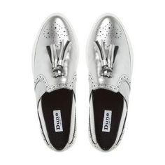 DUNE LADIES ETSIE - Tassel Brogue Slip On Trainer - pewter | Dune Shoes Online