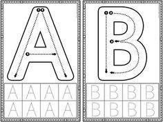 Letter Formation: Alphabet and Number Formation Cards Alphabet A, Alphabet Writing, Preschool Learning Activities, Kindergarten Writing, Pre Writing, Preschool Printables, Kids Writing, Preschool Worksheets, Spanish Alphabet