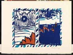 PIERRE ALECHINSKY COMPOSITION Lithographie en couleurs Signée et numérotée Tachisme, Kitsch, Art Informel, Composition, Art Sketches, Artwork, Auction, Objects, Museum