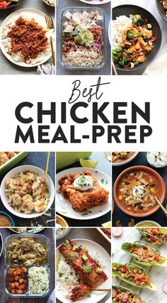 Chicken Meal Prep Recipes Fit Foodie Finds Looking for healthy lunch and healthy dinner options for the week These Chicken Meal Prep Ideas are perfect if youre looking f. Clean Dinner Recipes, Healthy Dinner Options, Clean Eating Dinner, Healthy Meal Prep, Clean Eating Recipes, Lunch Recipes, Healthy Eating, Meat Recipes, Protein Recipes
