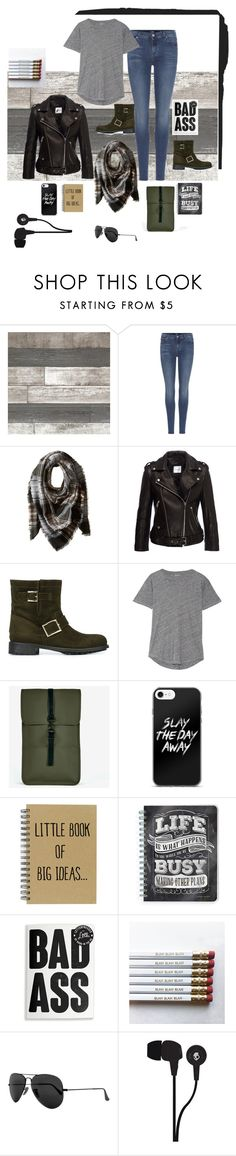 """Untitled #33"" by riuk ❤ liked on Polyvore featuring 7 For All Mankind, Steve Madden, Anine Bing, Jimmy Choo, Madewell, Rains, Ray-Ban and Skullcandy"
