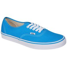 Vans Authentic Canvas Trainers - Methyl Blue/True White ($65) ❤ liked on Polyvore