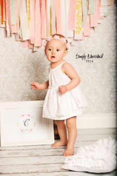 child photography, little girl, 1st birthday