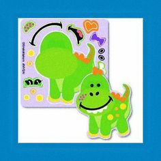 16 Make Your Own Dinosaur Dino Stickers Party Favors
