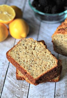Lemony moist and naturally sweet Whole Wheat Lemon Poppyseed Bread with an extra nutrient boost from chia seeds.