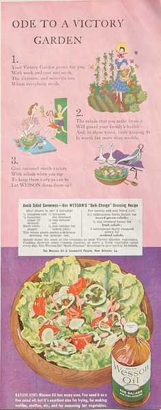 Ode to a Victory Garden: 1943 Ladies' Home Journal ad for Wesson Oil