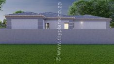 2 Bedroom House Plan BLA 107S - My Building Plans South Africa 2 Bedroom House Plans, My House Plans, My Building, Building Plans, Beautiful House Plans, Beautiful Homes, Master Suite, Master Bedroom, Fancy Houses