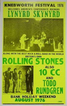 Vintage, retro, hippie classic rock poster - Lynyrd Skynyrd and Rolling Stones Rolling Stones, Vintage Concert Posters, Music Posters, Rock Band Posters, Classic Rock And Roll, Lynyrd Skynyrd, Pokemon, Rock Concert, Blues Rock