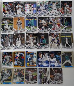 2017 Topps Update Mariners Master Team Set of 29 Baseball Cards W/ SP Variations #topps #SeattleMariners