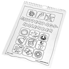 Eduplay, Bastelkalender Muttertag, Kalender zum selber gestalten, mit Spiralbindung, Geschenk zum Muttertag