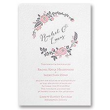 Pretty Perfect Letterpress Wedding Invitation