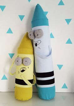 Funny Pillow Plushie Crayon, Blue Crayon, Christmas gift, gifts for the holidays,  cuddly toy, back to school by KAKUMAstore on Etsy