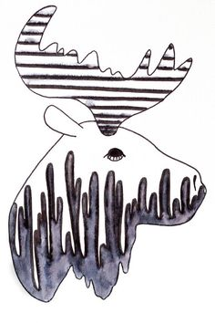 Orignal illustration noir et blanc neutre décoration Black Artwork, Neutral, Black N White