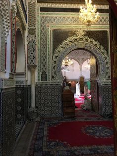 Gorgeous hand carved tile work in this centuries old Mosque. Arabic Architecture with Moroccan influences.   #morocco #fes #fez #kingdom #medina #architecture #adventure #backpacking #travelblog #arabic #roadtrip #maroc #marrakech #skyline #ancient #history #mosque #islam #explore #moors #moorish #medieval
