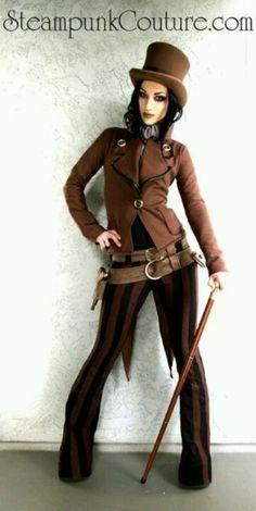 Amazing androgynous Steampunk fashion