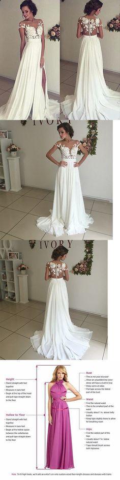 Wedding Dresses: New White Ivory Chiffon Wedding Dress Lace Beach Bridal Gown Custom 6+8+10+18+ -> BUY IT NOW ONLY: $89.99 on eBay!