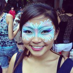 Painting faces today. #facepaint #facepainting #kryolan #makeup