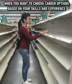 Or if you're in Venezuela right now, this is your shopping options. Thank socialism!