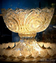 Punch Bowl and Cups American Libbey Glass ca 1903