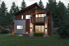 Contemporary Style House Plan - 6 Beds 5.50 Baths 5816 Sq/Ft Plan #1066-38 Exterior - Rear Elevation  #dwell #design #designhome #homeplan #houseplan #home #house #modern #modernhome #residence #architect #architecture #build #floorplan