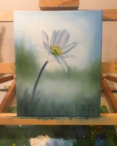 A miniature of flower oil painting.