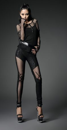 hot sale tight gothic pants with sexy spider web