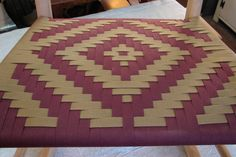Diamond in cranberry and butternut Weaving, Patterns, Rugs, Chair, Diamond, Home Decor, Block Prints, Farmhouse Rugs, Pattern