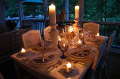 , Great Romantic Candlelight Dinner on Your Own Home Outdoor Space
