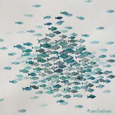 #sanchiadraws #fishies #pentelbrushpen #koiwatercolorkit #watercolor by sanchimilikiti
